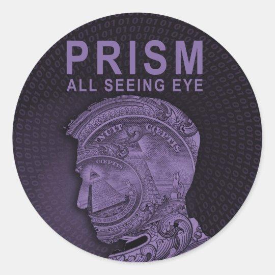 PRISM - All Seeing Eye - Purple Classic Round Sticker