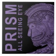 PRISM - All Seeing Eye -Purple Large Square Tile (<em>$21.95</em>)