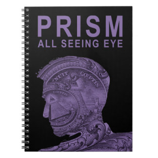 PRISM - All Seeing Eye -Purple Spiral Note Book