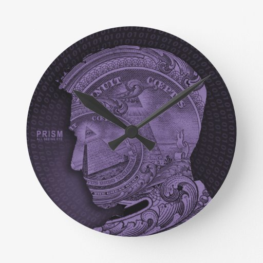 PRISM - All Seeing Eye - Purple Round Wallclock