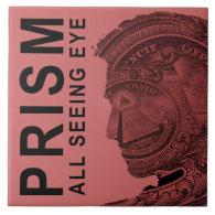 PRISM - All Seeing Eye - Raspberry Ceramic Tile (<em>$21.95</em>)