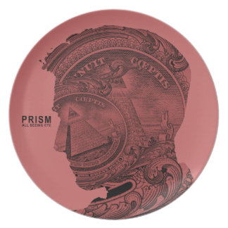 PRISM - All Seeing Eye - Raspberry Melamine Plate