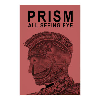 PRISM - All Seeing Eye - Raspberry Poster