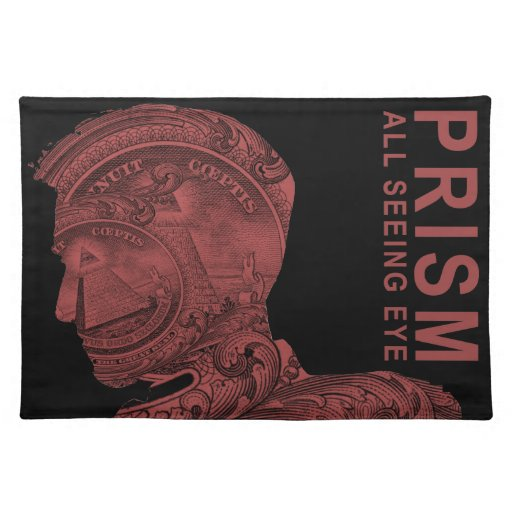 PRISM - All Seeing Eye - Red Cloth Placemat