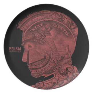 PRISM - All Seeing Eye - Red Dinner Plate