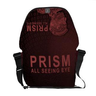 PRISM - All Seeing Eye - Red Messenger Bag