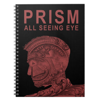 PRISM - All Seeing Eye - Red Spiral Note Books