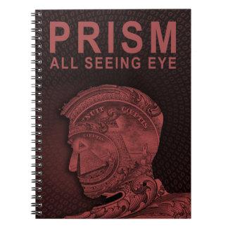 PRISM - All Seeing Eye - Red Spiral Notebook