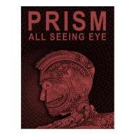 PRISM - All Seeing Eye - Red Postcard (<em>$1.10</em>)