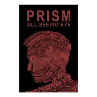 PRISM - All Seeing Eye - Red Poster