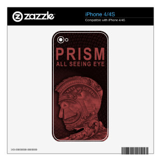 PRISM - All Seeing Eye - Red Skins For iPhone 4S