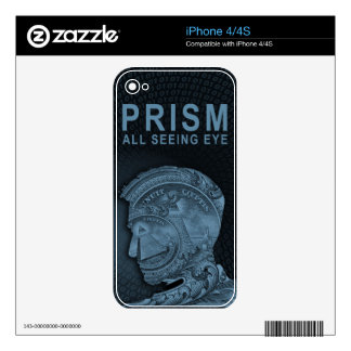 PRISM - All Seeing Eye - Slate Decal For iPhone 4