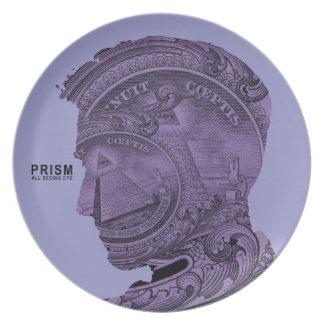 PRISM - All Seeing Eye - Violet Melamine Plate