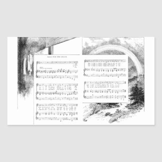 Prism and Rainbow Song and Music Rectangular Sticker