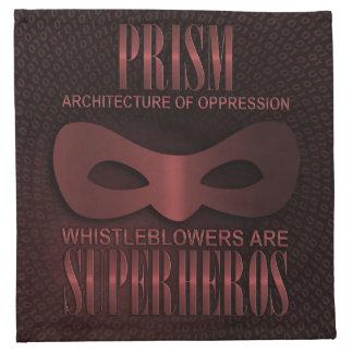 """PRISM - """"ARCHITECTURE OF OPPRESSION"""" CLOTH NAPKIN"""