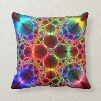 Prism Bubbles Throw Pillow