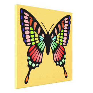 Prism Butterfly Canvas Prints