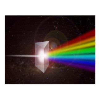 Prism Color Spectrum Space Stars Galaxy  DE LaRue Postcard
