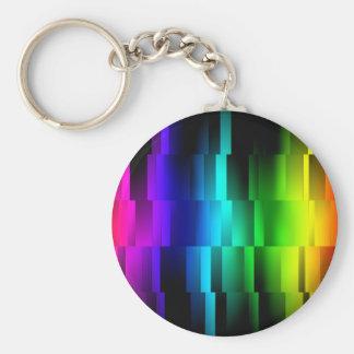 Prism Fractions Basic Round Button Keychain