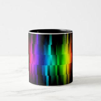 Prism Fractions Two-Tone Coffee Mug