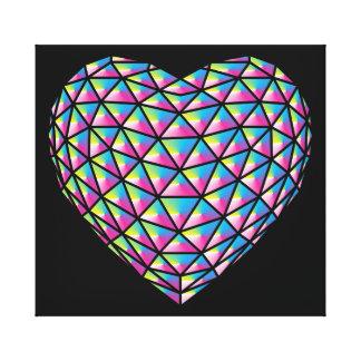 Prism Heart Canvas Print