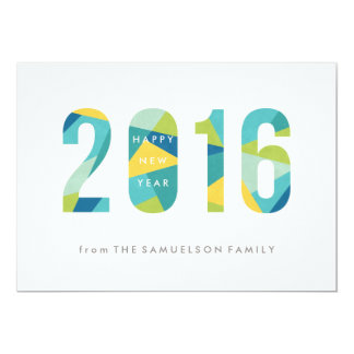 Prism New Year New Year's Card - Cobalt