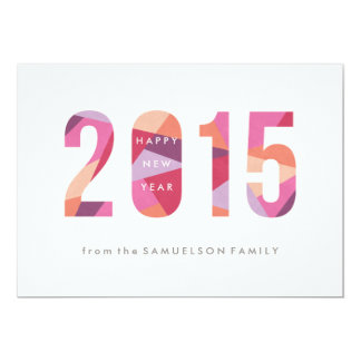 Prism New Year New Year's Card - Plum Announcement