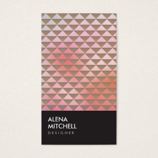 PRISM PHOTO in BLACK & TAN (Vertical) Business Card