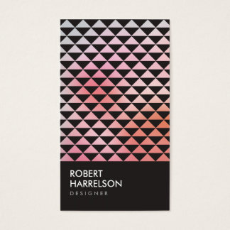 PRISM PHOTO in BLACK (Vertical) Business Card