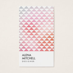 Prism Photo In White (vertical) Business Card at Zazzle