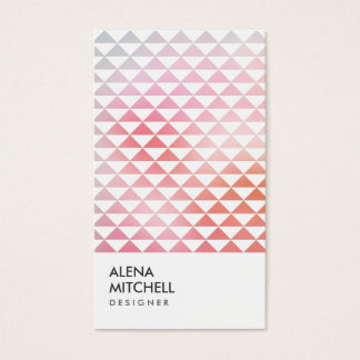 PRISM PHOTO in WHITE (Vertical) Business Card
