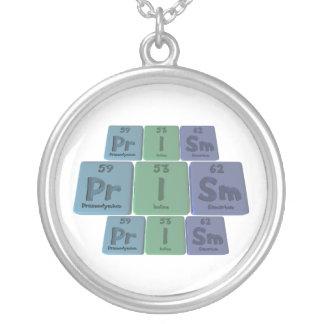 Prism-Pr-I-Sm-Praseodymium-Iodine-Samarium.png Round Pendant Necklace