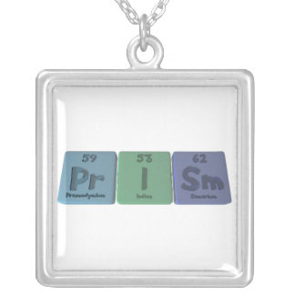 Prism-Pr-I-Sm-Praseodymium-Iodine-Samarium.png Square Pendant Necklace