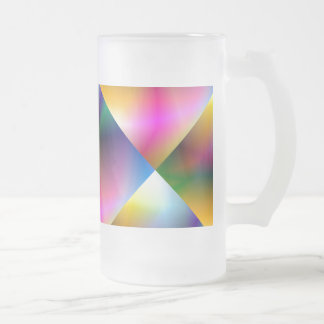 Prism Rainbow Frosted Glass Beer Mug