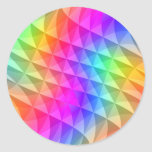 prism squares pattern classic round sticker