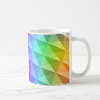 prism squares pattern coffee mug