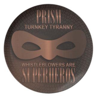 "PRISM - ""TURNKEY TYRANNY"" DINNER PLATE"