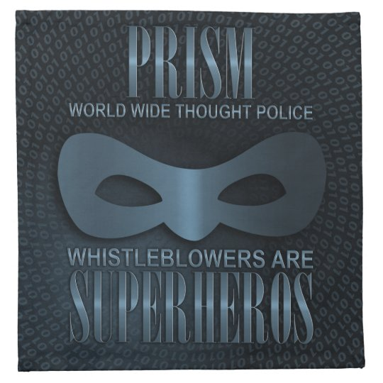 PRISM - WORLD WIDE THOUGHT POLICE - Blue Cloth Napkin
