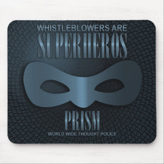 PRISM - WORLD WIDE THOUGHT POLICE - Blue Mouse Pad