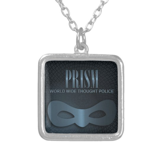 PRISM - WORLD WIDE THOUGHT POLICE - Blue Silver Plated Necklace