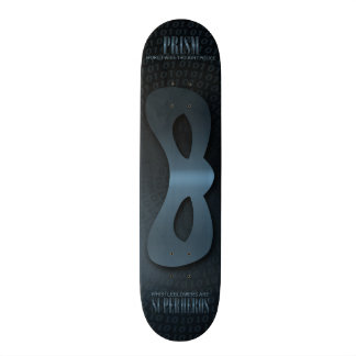 PRISM - WORLD WIDE THOUGHT POLICE - Blue Skateboard Deck