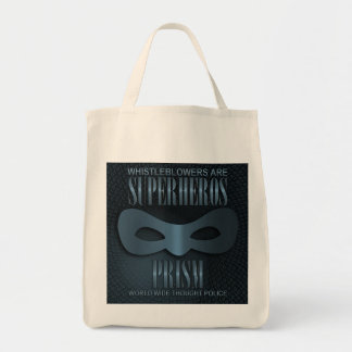 PRISM - WORLD WIDE THOUGHT POLICE - Blue Tote Bag
