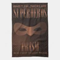 PRISM - WORLD WIDE THOUGHT POLICE- Bronze Hand Towels (<em>$17.85</em>)