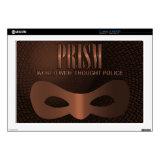PRISM - WORLD WIDE THOUGHT POLICE- Bronze Skins For 17&quot; Laptops (<em>$40.65</em>)