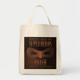 PRISM - WORLD WIDE THOUGHT POLICE- Bronze Tote Bag