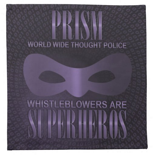 PRISM - WORLD WIDE THOUGHT POLICE NAPKIN