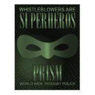 PRISM - WORLD WIDE THOUGHT POLICE POSTCARD (<em>$1.30</em>)