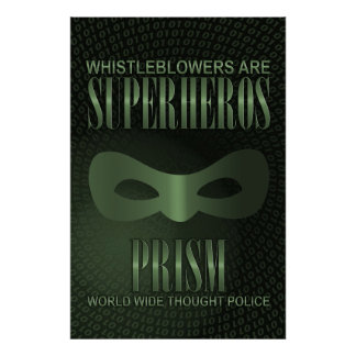 PRISM - WORLD WIDE THOUGHT POLICE POSTER