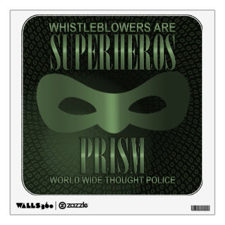 PRISM - WORLD WIDE THOUGHT POLICE WALL DECAL