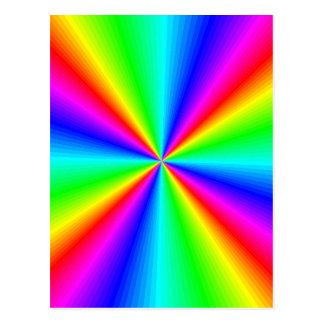 Prisma de neón del arco iris postales
